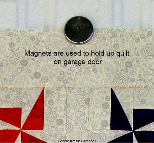 Magnet used on quilt