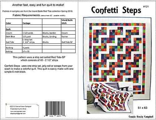 Pattern Cover for Confetti Steps - ConnieKresin.com