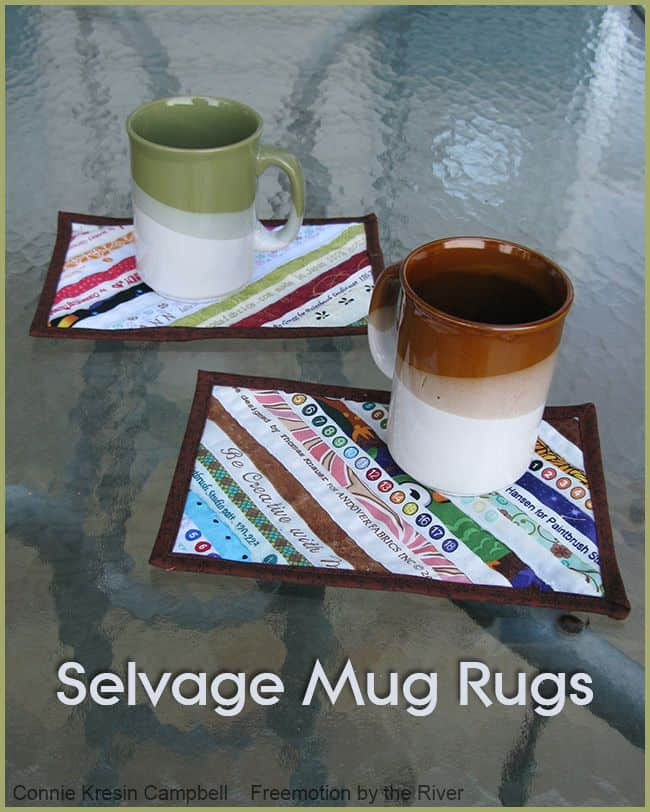 Selvage Mug Rugs Fast and Easy to Make