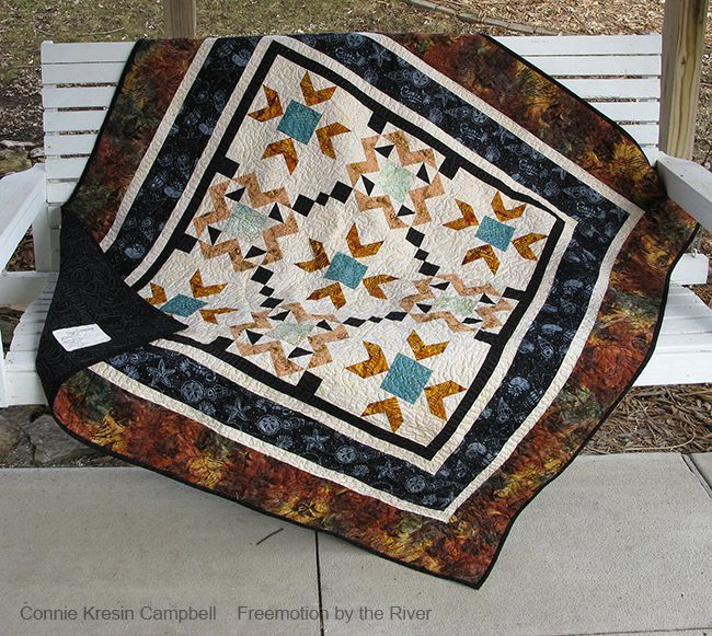 Star Crossed Batik Quilt