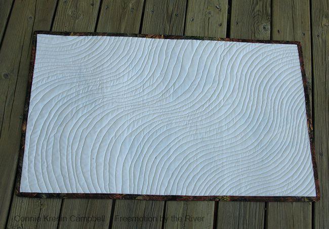modern batik quilt back