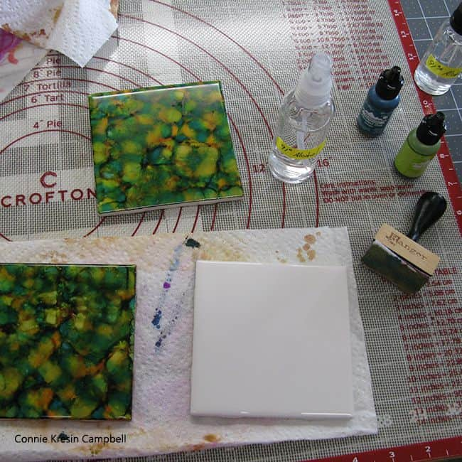 Alcohol ink tutorial step one
