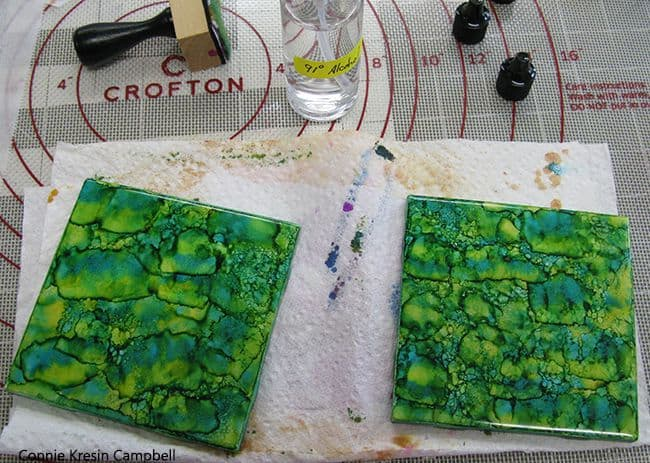 Alcohol ink tutorial step four
