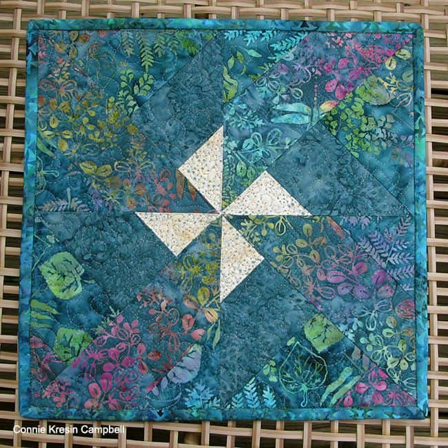 Batik pinwheel topper