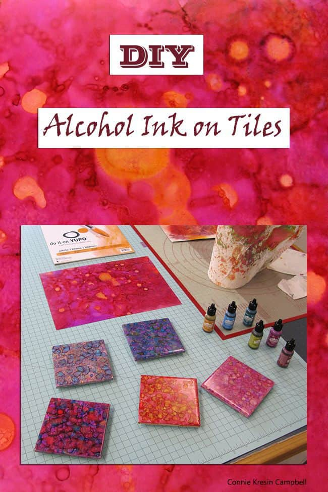 DIY Alcohol Ink on Tiles Tutorial