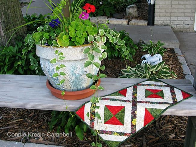 Holiday Happenings Table Runner bench