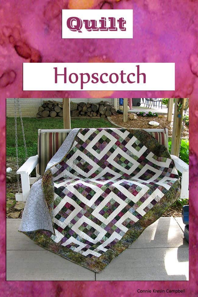 Hopscotch Batik Quilt 2 very easy pattern to make