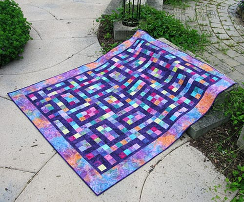 Hopscotch Quilt Pattern made with Island Batik fabrics