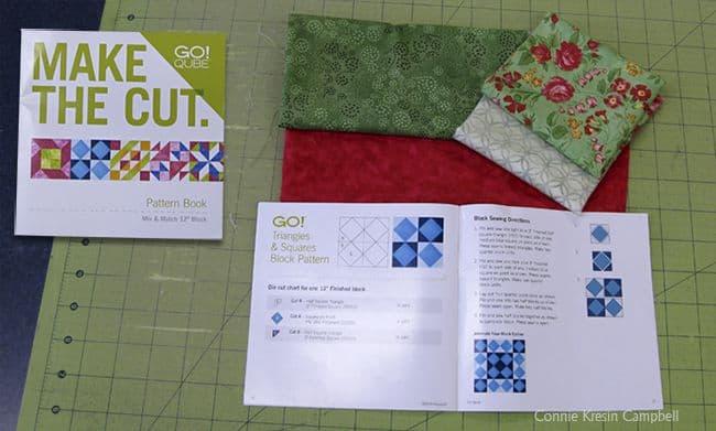 Rosey Applique pillow cutting quilt pieces