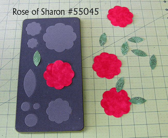 Rosey Applique pillow cutting quilt pieces