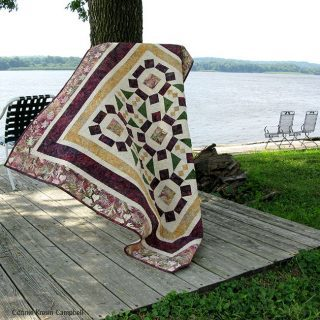 Board Game batik quilt blowing in the wind