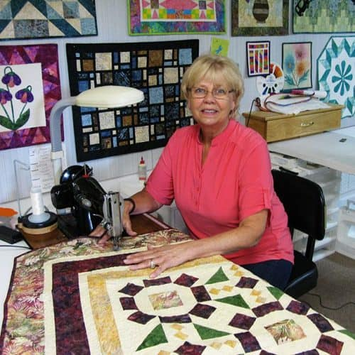 Board Game Batik Quilt by Connie Kresin Campbell