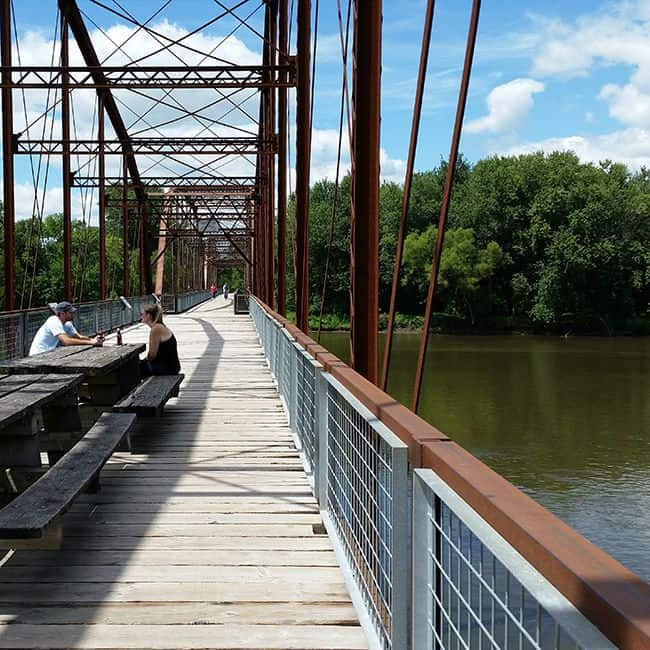 Sutliff Bridge Cedar-River Iowa