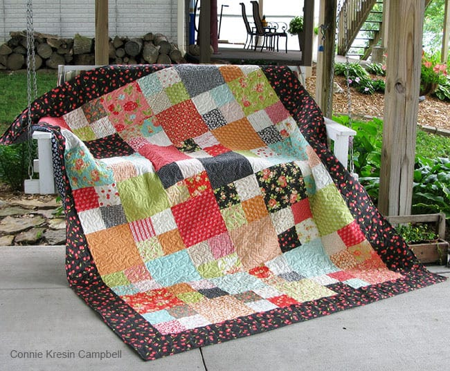 Checkmate Quilt on Swing-free-pattern