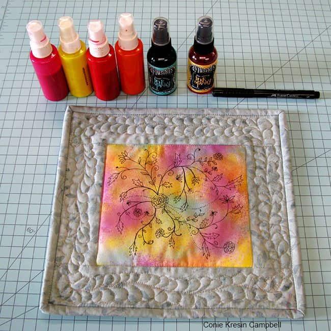 Painted Fabric Art Fabric Paints DIY