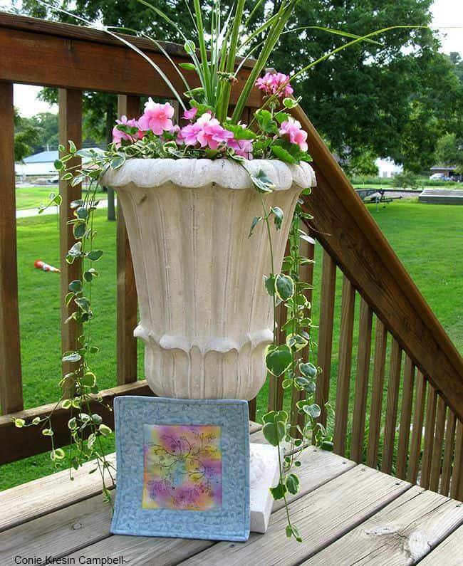 Painted Fabric Art Mini Quilt Tutorial