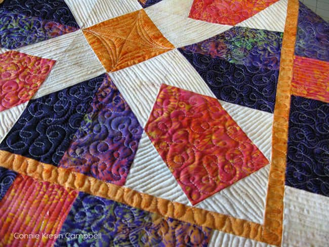 Cheetos on the beach with Seaside Quilt
