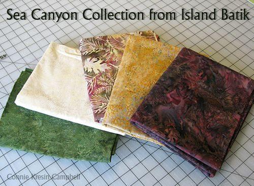 Sea Canyon Collection from Island Batik