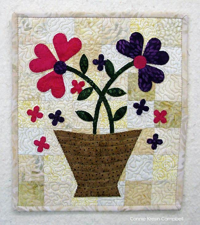 Serendipity Fast and Easy Applique Mini Quilt tutorial