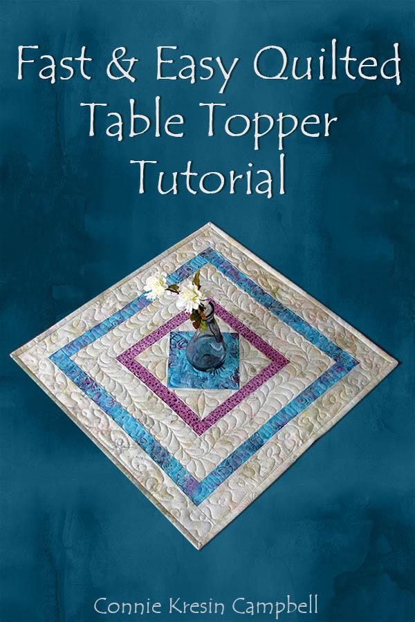 Square in a Square table topper tutorial