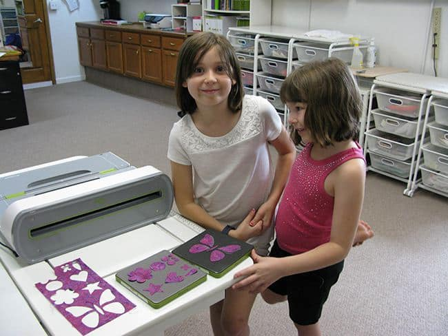 girls and accuquilt cutter