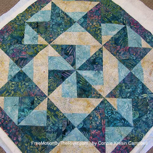 Crystal Cove new quilt from batiks