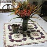 Fall Table Topper made with the Sea Canyon Collection of batiks