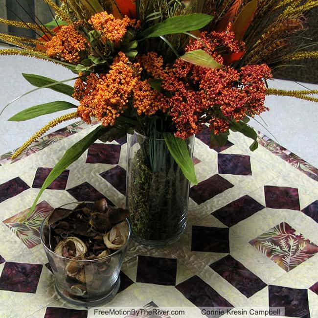 Table topper with Dollar Store decorations