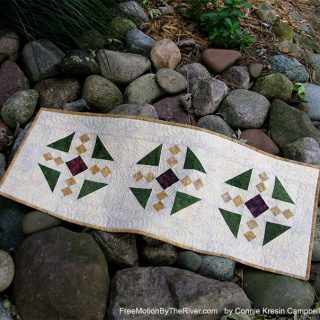 Fall Table Runner made with Island Batik fabrics