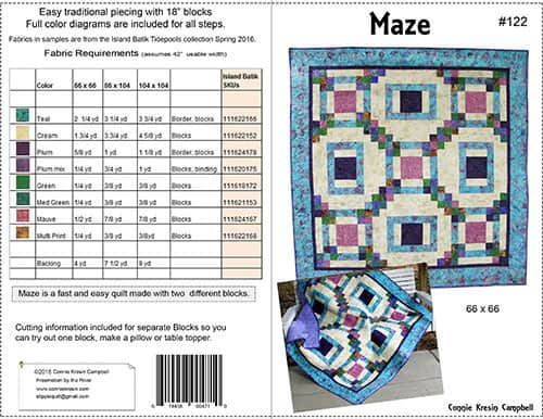 Maze quilt pattern cover