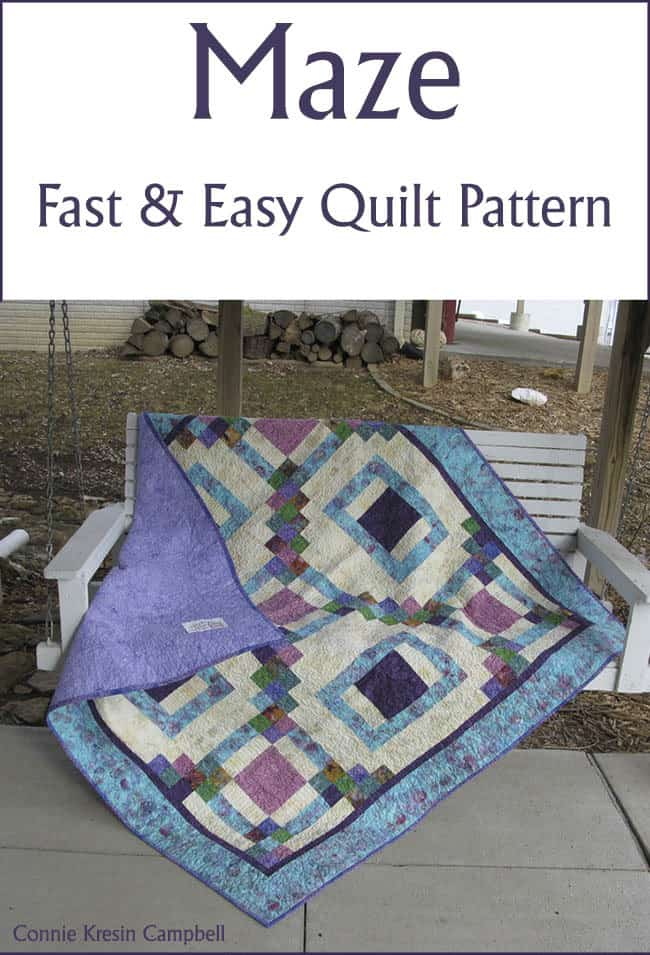 Maze quilt pattern on sale at Freemotion by the River