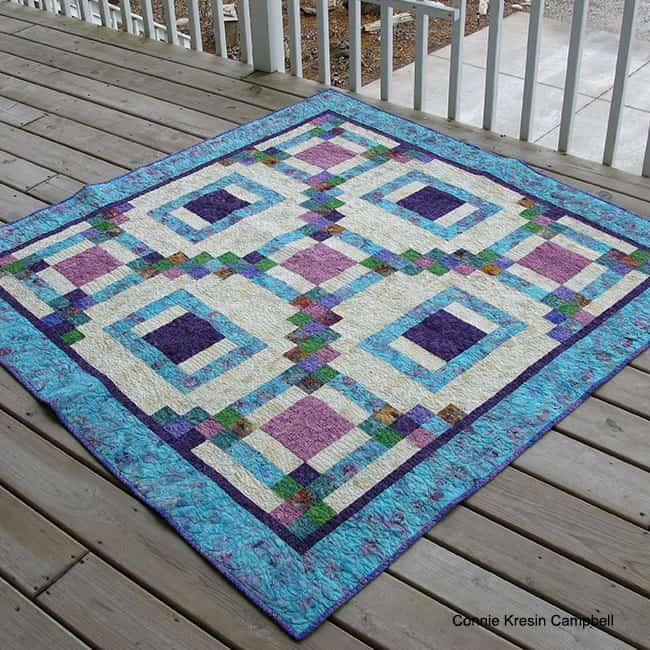 Maze quilt made with Island Batik fabrics