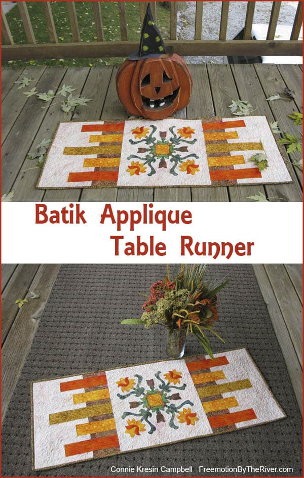 Batik Applique Table Runner