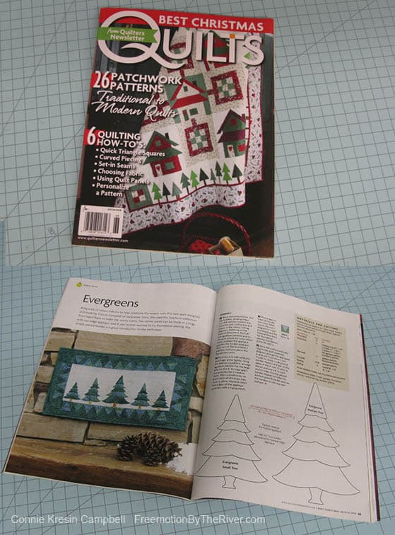 Best Christmas Quilts fromEvergreens quilt in Quilters Newsletter page 62