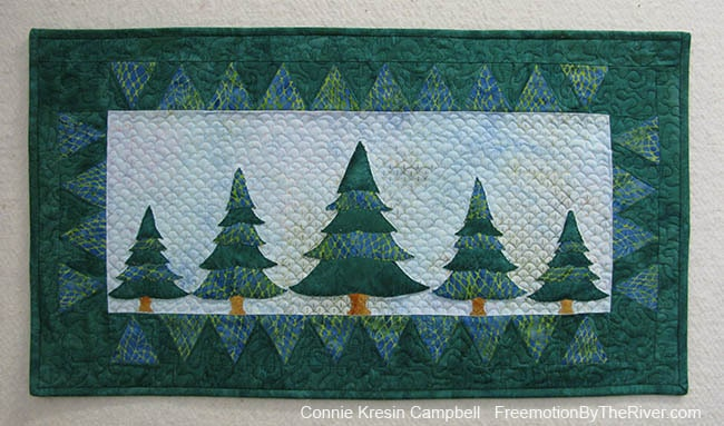 Evergreens wall hanging makes a wonderful gift