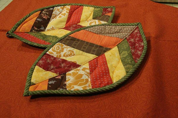 Quilted Leaf Pot holders