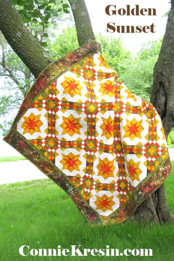 Golden Sunset quilt pattern