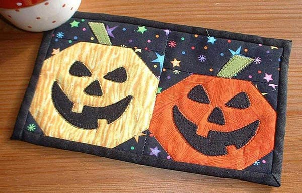 Halloween Roundup Pumpkin Face Applique