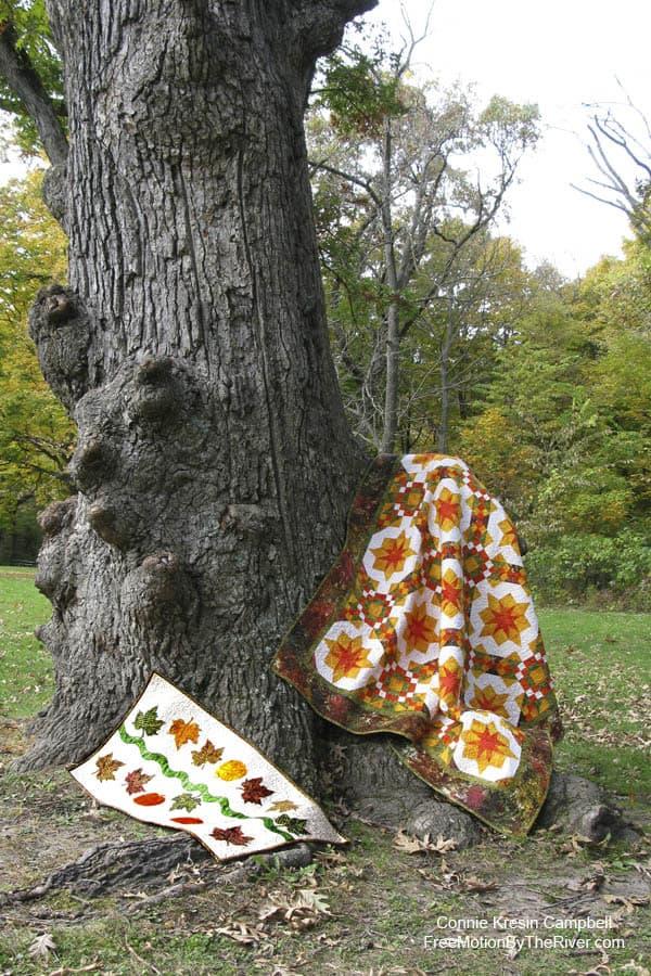 Golden Sunset quilt and Pumpkin Fest Tablerunner
