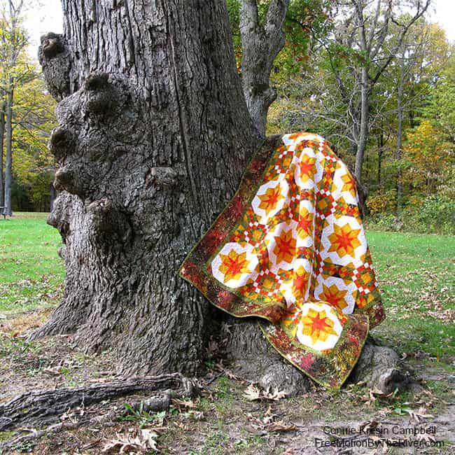 Golden Sunset quilt pattern perfect for autumn