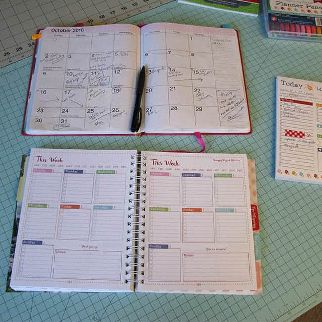 Scrappy Project Planner and a journal