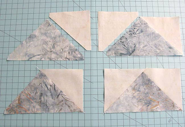 AccuQuilt Winter Blues table runner tutorial sewing blocks
