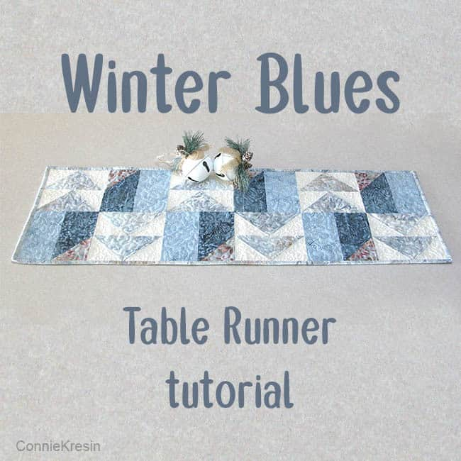AccuQuilt Winter Blues table runner tutorial