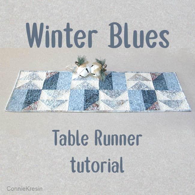 AccuQuilt Winter Blues table runner tutorial