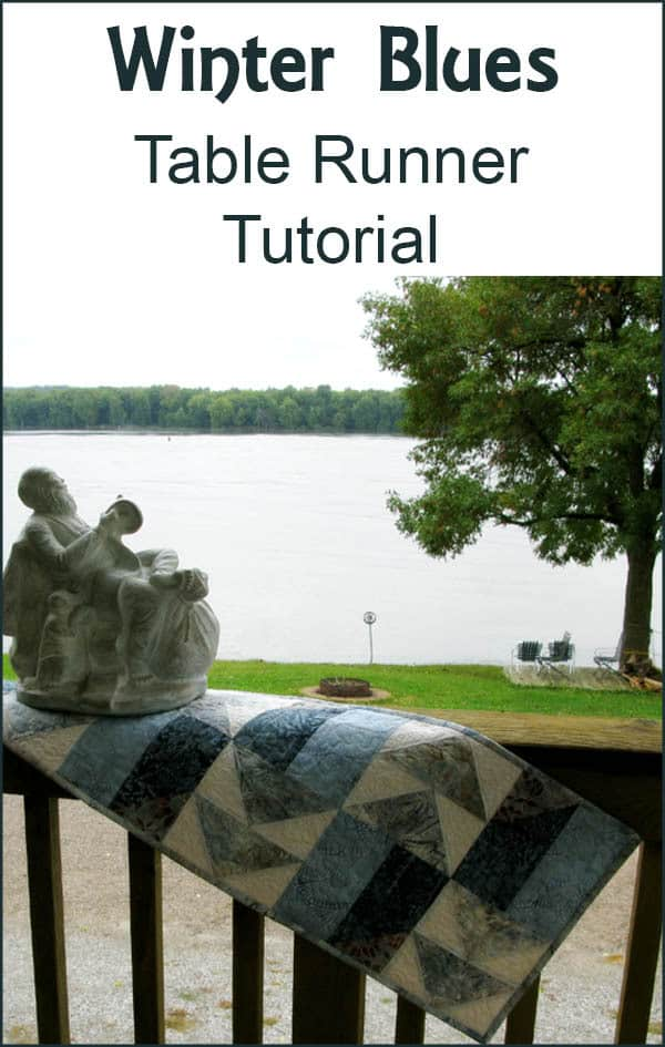 Winter BluesTable runner tutorial