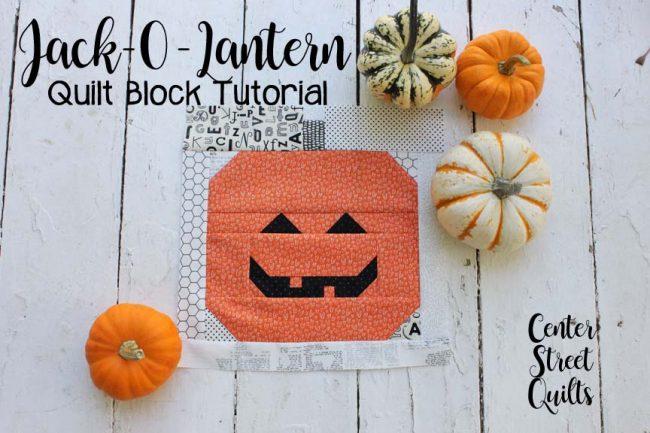 Pumpkin Quilt Block tutorial