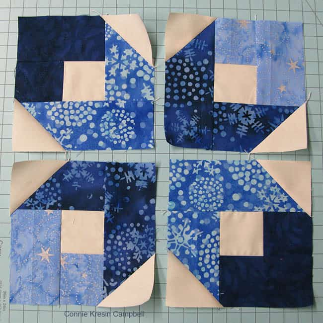 5 inch Boxy quilt blocks for table topper