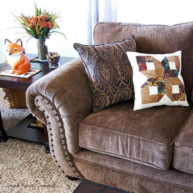 Batik pillow on the sofa
