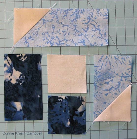 Block pieces pieced