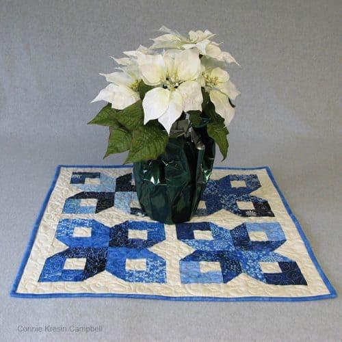 Batik Table Topper for Winter Wonderland Island Batik